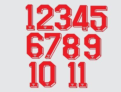 FOOTBALL SHIRT NUMBER for just £1 (per digit)) IRON ON or