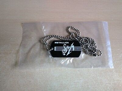 Metallica Official S&M Logo Dog Tag Pendant and Chain New
