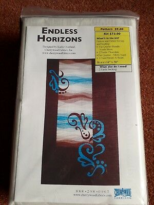 Endless Horizons Quilt Kit with Cherrywood fabric brown & blue