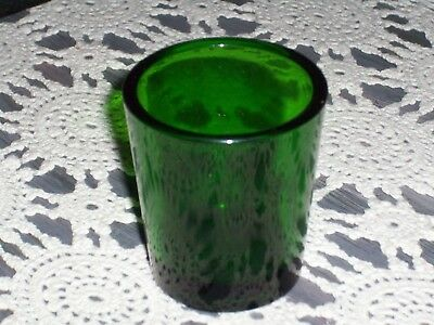 "Shot Glass- Kelly/shamrock Green Made In ""usa"" Excellent"