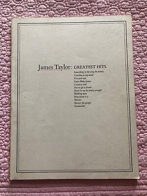 JAMES TAYLOR Greatest Hits Sheet Music Book Guitar TAB YOU'VE GOT A FRIEND MANY