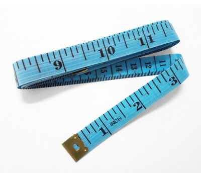"body Measuring Ruler Sewing Cloth Tailor Tape Measure Soft Flat 60"" /150cm Blue"
