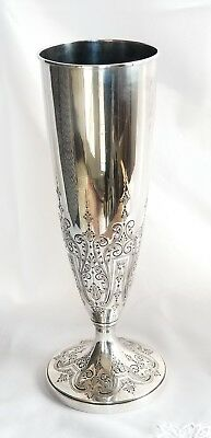 "Vintage Durgin Co. Large 14"" Sterling Silver Vase Unweighted 725 grams BEAUTIFUL"