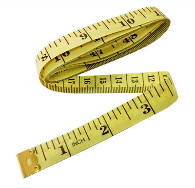 "Yellow Body Measuring Ruler Sewing Tailor Tape Measure Soft Flat 60"" /150cm"