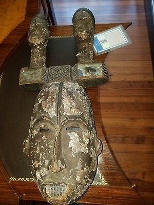 antique African Yohure Tribal Mask