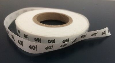 Reel Of Small (s) Dressmaking Size Label