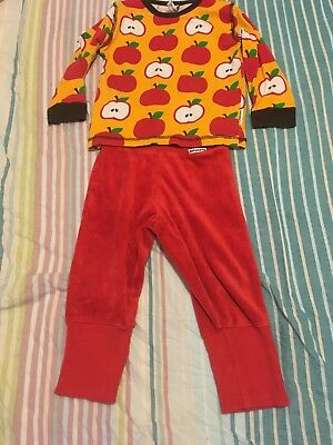 maxomorra apples top 86 boys and red rib trousers matching outfit stunning 18 24