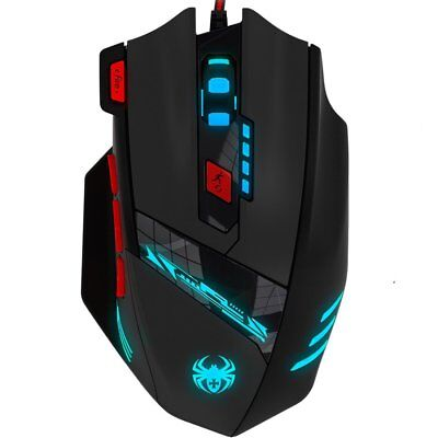 Zelotes T90 9200 DPI Gaming Mouse Professional 8 Buttons Wired USB with Multi-Mo