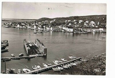 Norway,  Mittet harbour - postcard posted 1958