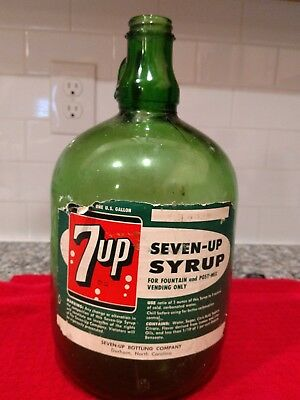 7 Up Seven Up One Galion Fountain Syrup Bottle Seven Up Bottling Of Durham Nc