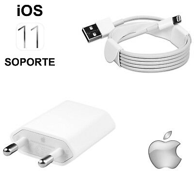 Adaptador Cargador + Orignal Usb Cable Para Iphone Se 5 5S 6 6S 7 Plus 8 - Ipod