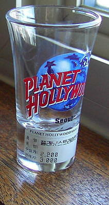 NWT Planet Hollywood Seoul South Korea Tall Shot Glass AUTHENTIC NEW! RARE!