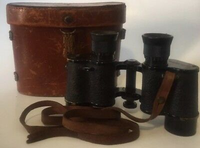 Vintage Bausch & Lomb Military Binoculars W/ Carry Case