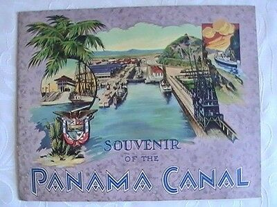 Vintage Souvenir of the Panama Canal Illustrated Booklet!