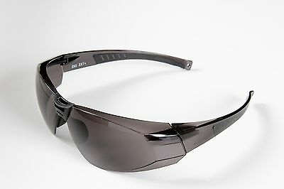 SSG B1140 SAFETY SUNGLASSES GRAY ANTI-SCRATCH COATED LENS BLUE FRAME