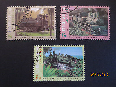 No-2--1994   CHRISTMAS   ISLAND   ISSUED   RAILWAY   STAMPS --F/S     3    USED