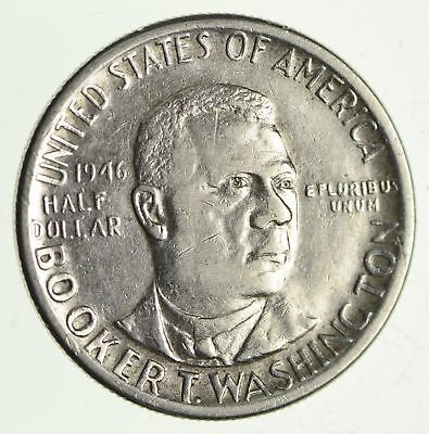 Tough - Booker T Washington - US Commemorative Half Dollar - 90% Silver *666