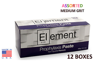 12 BOXES Element Prophy Paste Cups ASSORTED MEDIUM 200/Box  Dental Flouride