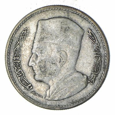 Roughly Size of Nickel - 1960 Morocco 1 Durham - World Silver Coin *341