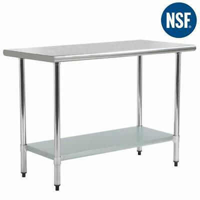"24""x60"" Stainless Steel Kitchen Work Table Commercial Kitchen Restaurant  table"