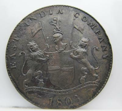 India-British/madras Presidency 1803 20-Cash! Almost Unc! Km# 321! Look!