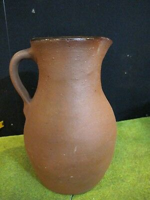 Ned Foltz Pennsylvania Redware Pottery Pitcher 1982