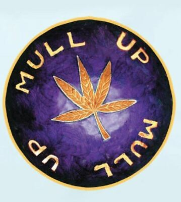 Brass Leaf Bowl - Tobacco Smoke Cigarettes Tray Smoking Mull Bowl Mull Up Purple