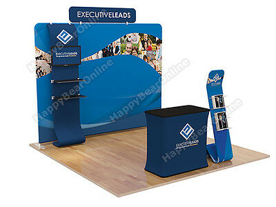 Trade show A7 Display booth package 10ft -with casetopodium
