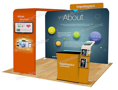 Trade show A31 Display exhibition booth 10ft (TV stand, Display shelves, Header)