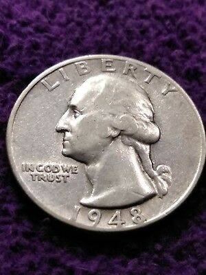 1948 S Silver Washington Quarter