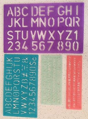 4 Stencil Set Letters Capital Alphabet Number Lettering Upper Lower