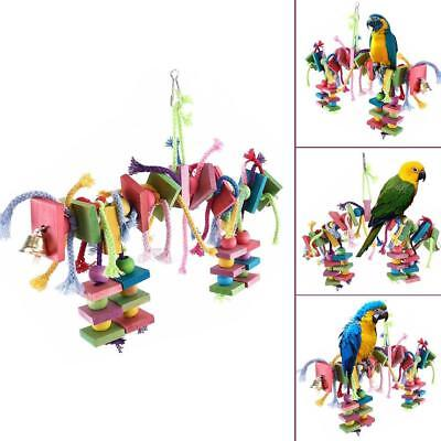 Big Bird Parrot Play Stand Cockatoo Macaws Gym Perch Chewing Toys Knots Block