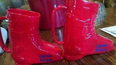 Captain Morgan Red Ski Boot Drinking Mug X 2
