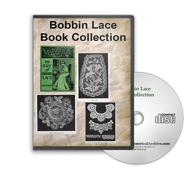 Bobbin Lace and Pillow Lace Making Patterns - 5 Instructional Books on CD B397
