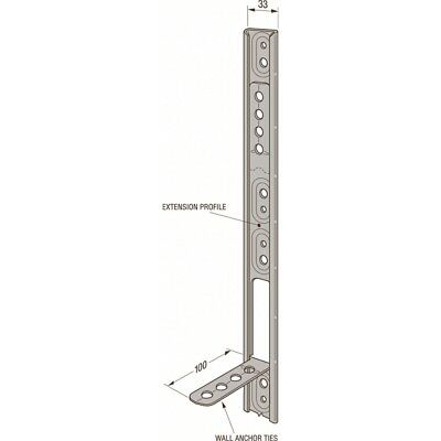 Simpson Strong Tie Galvanised Wall Starter,