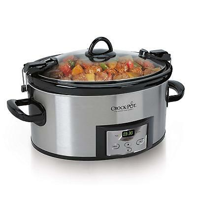 Crock-Pot 6-Quart Programmable Cook  Carry Slow Cooker with Digital Timer,