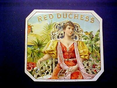 Vintage Cigar Label - RED DUCHESS Outer Label Design by Louis Neuman Co Litho NY