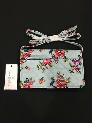 Vera Bradley Iconic Deluxe All Together Crossbody In Water Bouquet Pattern