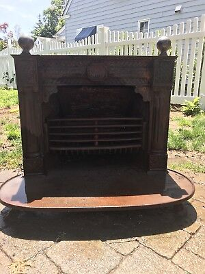 Antique Cast Iron franklin stove. Coal/wood Fireplace Insert