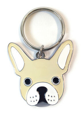 Boston Terrier Pendant Key Chain with Silver Tone Accents