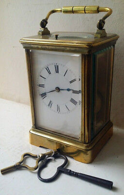 Lovely Henri Jacot Striking Repeating Carriage Clock with Key NO RESERVE