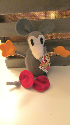 Vintage Skiddoo the Mouse Bean Bag Doll from Felix the Cat, 1983, Excellent, NWT