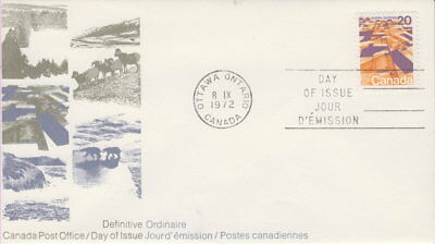 Canada #596 20¢ Landscapes Definitives - Praires First Day Cover