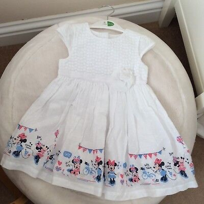 George Baby girl's dress with Disney pattern 6-9 months white