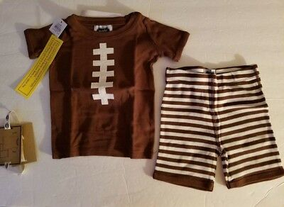Mud Pie Boys Football 2 piece boutique Lounge Pajama Set outfit NEW Tags 2T NWT