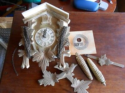 original vintage cuckoo clock needs tlc