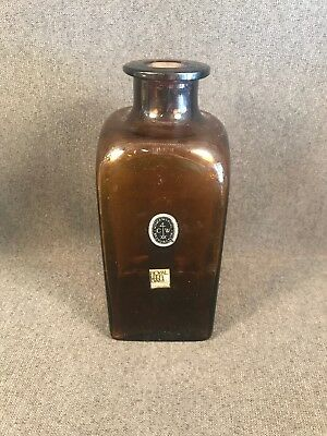 PV02345 Royal Leer Dam Holland Amber Glass Bottle Replica for Colonial Williamsb