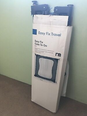 Mothercare Easy Fix Adjustable Travel Stair Gate