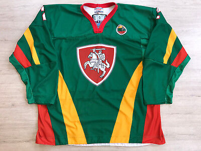 IIHF Game Worn Lietuva Lithuania Ice Hockey Jersey Shirt TACKLA Size XXL #2