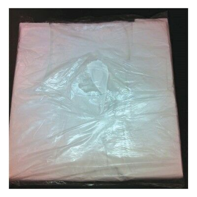 Tidyz White Carrier Bags, 100 Pack
